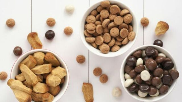 Slimme Big-Bag units voor nieuwe drageerlijn chocolade kruidnoten Van Delft Biscuits