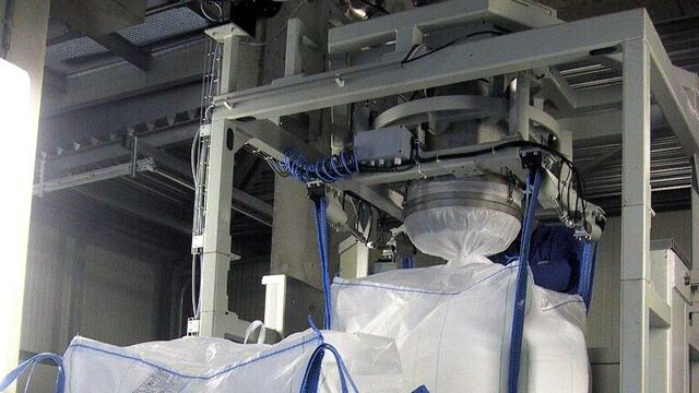 TBMA Big-Bag filling system for minerals industry