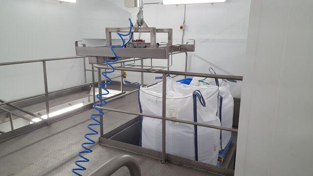 TBMA Big-Bags lossen voor voedingsindustrie en dairy industrie