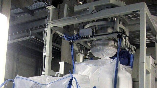 TBMA Big-Bags vullen voor mineralen industrie