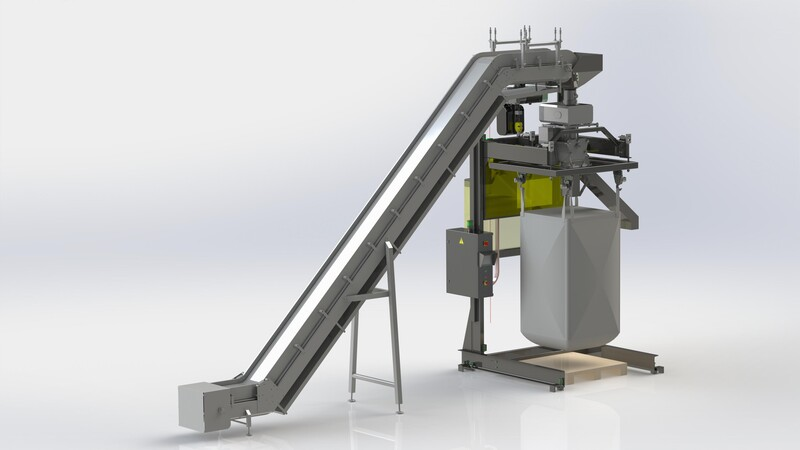 TBMA bigbag filling unit foodgrade clever engineering