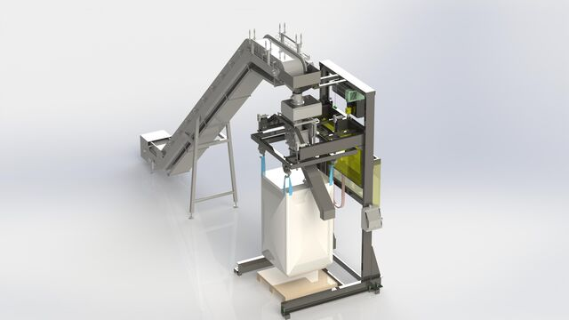 TBMA bigbag filling unit foodgrade smart engineering