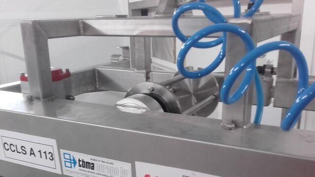 TBMA bigbag unloading hi-care roll-up mechanism for inner bag