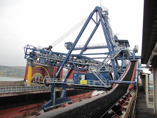 TBMA Cimbria moduflex loading chutes ship loading
