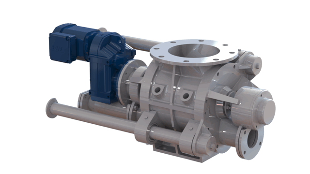 TBMA DG Quick Clean blow through rotary valve direct drive