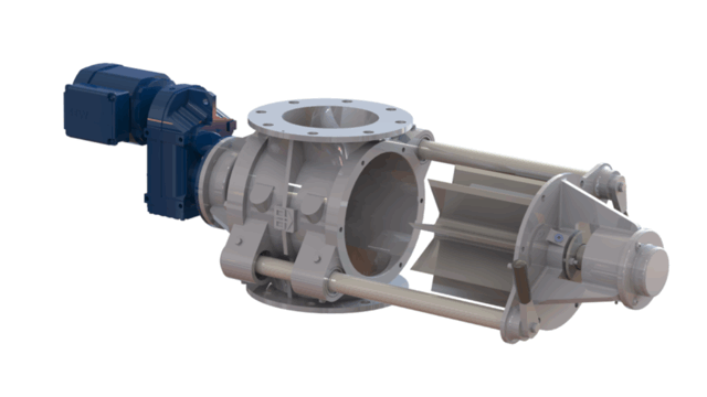 TBMA DG Quick Clean drop through rotary valve TBMA H-ARDG Quick-Clean dairy hygienic drop-through rotary valve direct drive