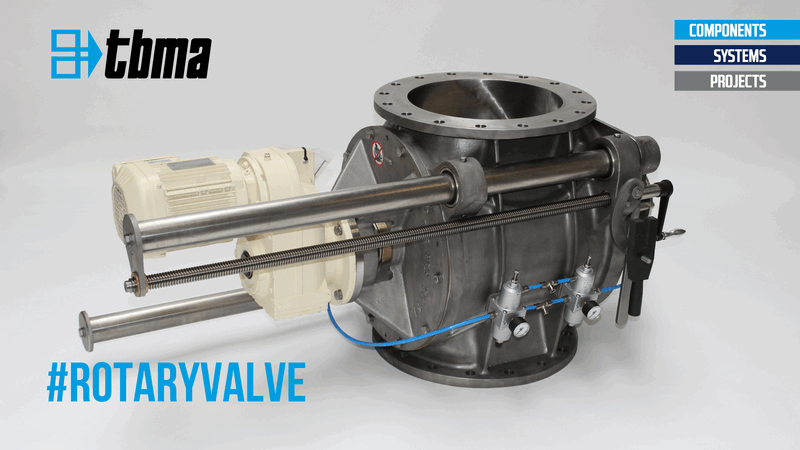 TBMA DG350 drop trough rail valve with extra spindle