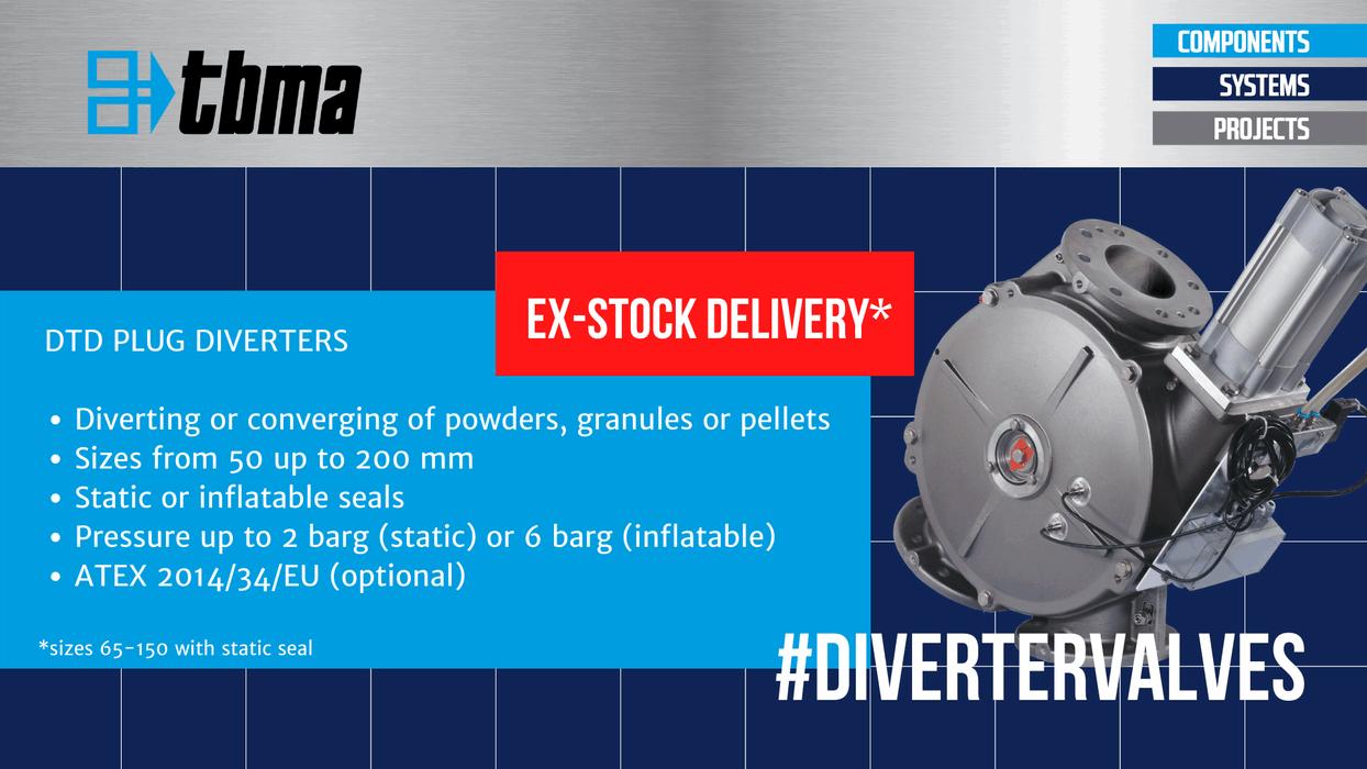 TBMA DTD plug diverter ex-stock delivery