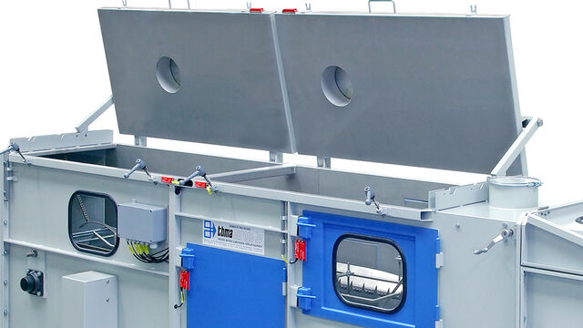 TBMA Galahad bag cutting and emptying unit