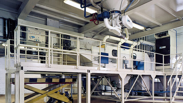 TBMA Galahad fully automated bag emptying system for pet food animal feed and aqua feed industry