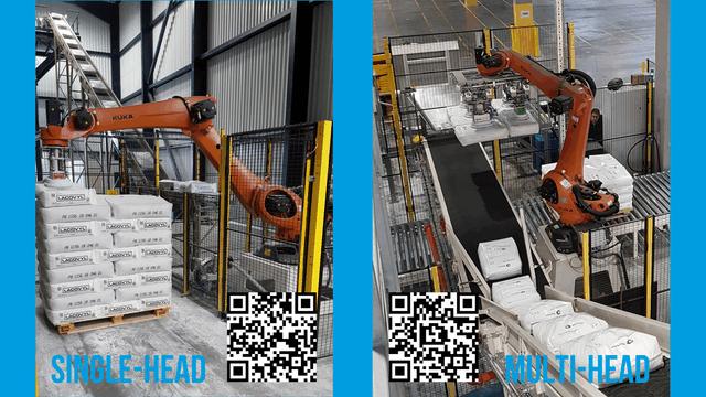 TBMA Galahad zakkensnij zakkenleegmachine robot