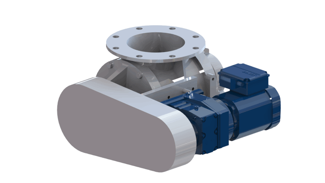 TBMA H-AR drop through rotary valve with chain drive