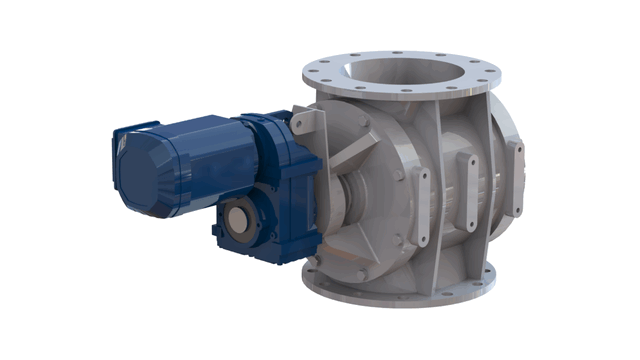 TBMA H-AR drop through rotary valve with direct drive