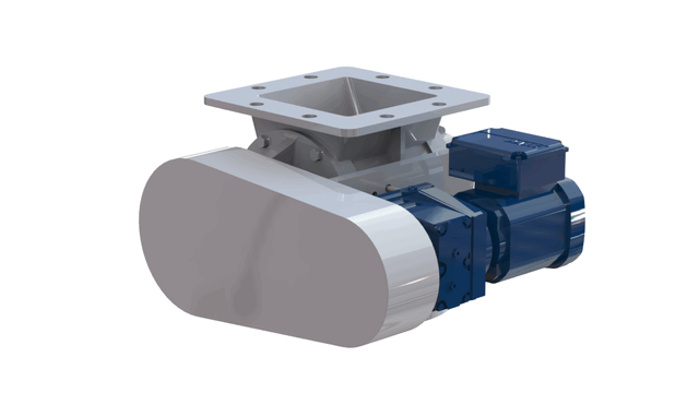 TBMA H-AX drop through rotary valve with chain drive
