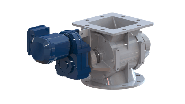 TBMA H-AX drop through rotary valve with direct drive