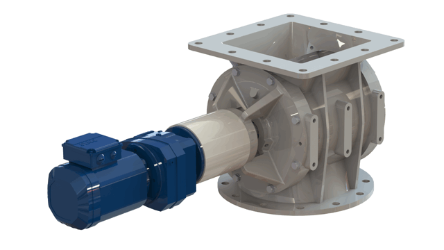 TBMA H-AX drop through rotary valve with in-line drive