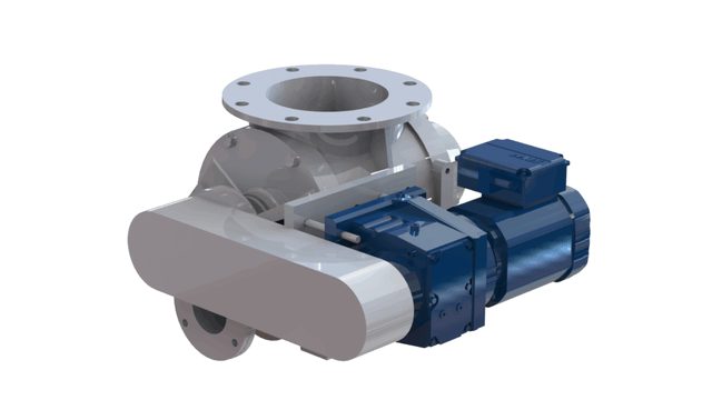 TBMA H-GR blow through rotary valve with chain drive
