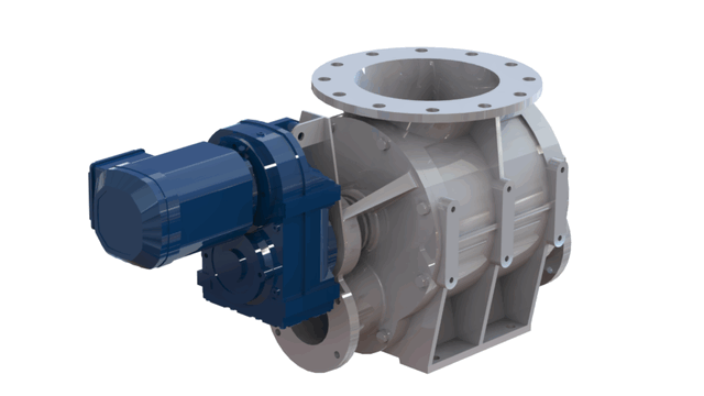 TBMA H-GR blow through rotary valve with direct drive