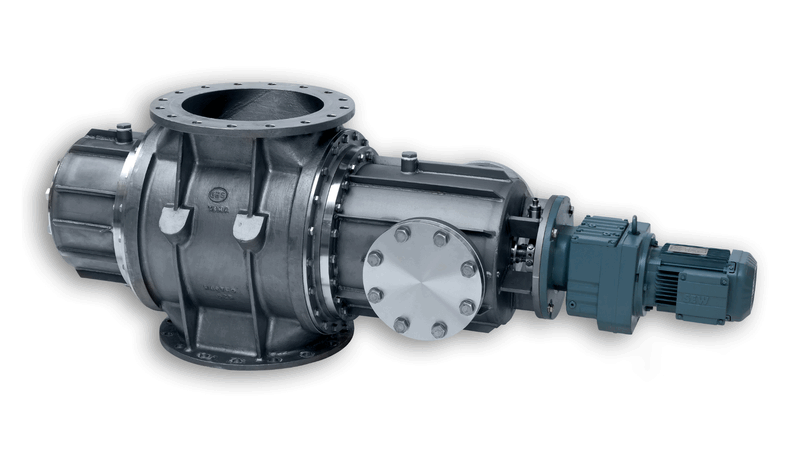 TBMA HAR350 drop through rotary valve PED for chlorine gas toxic chemical processes