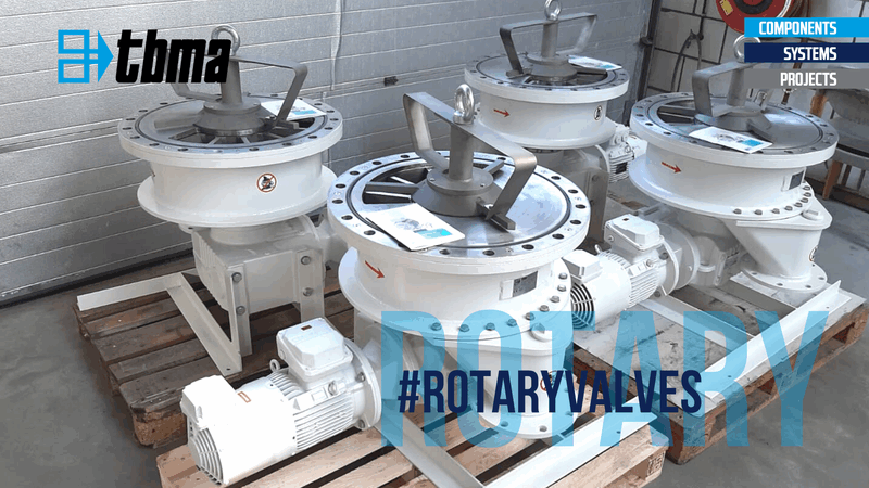 TBMA horizontal rotary valves for bentonite in offshore installations
