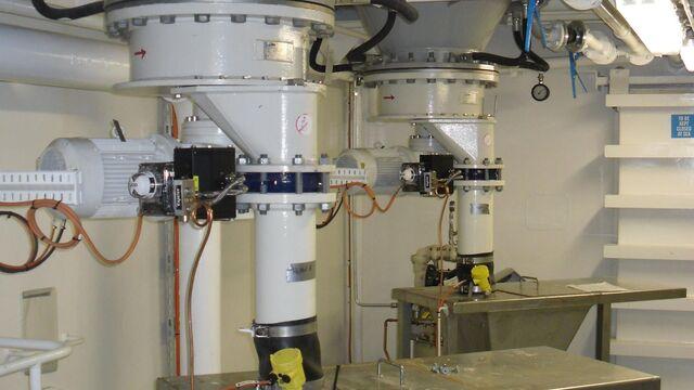 TBMA HZ horizontaal doseersluis voor bentoniet en mineralen industrie