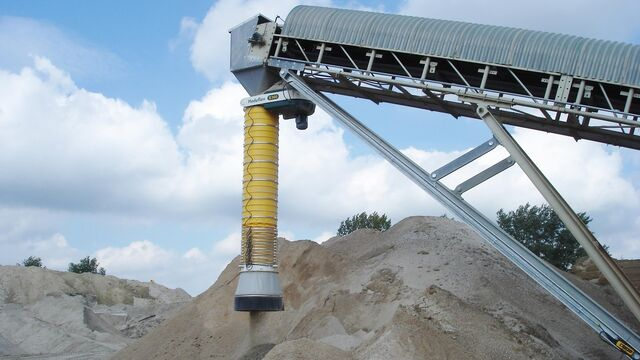 TBMA loading chute for minerals industry