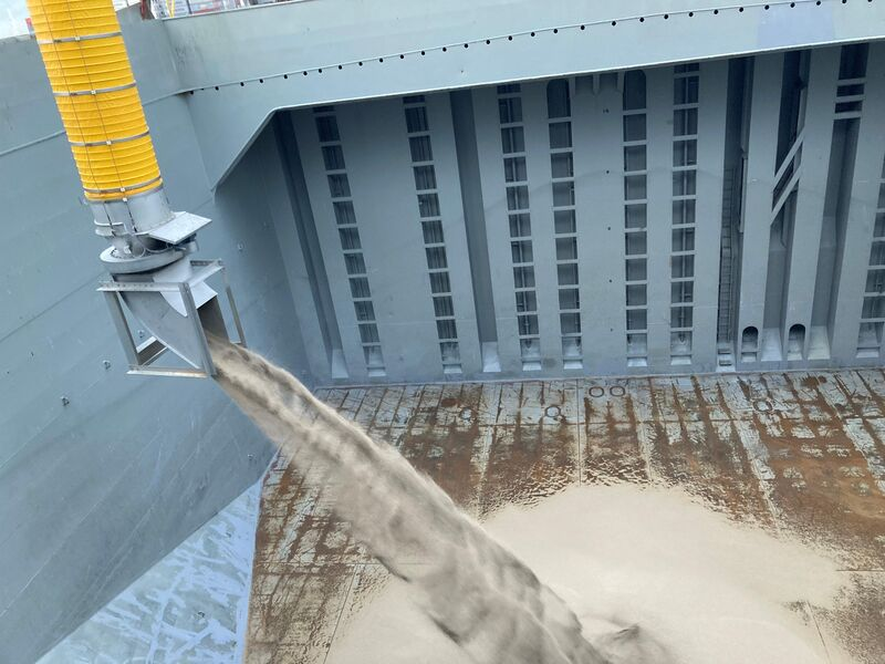 TBMA loading chute ship loading radial trimmer
