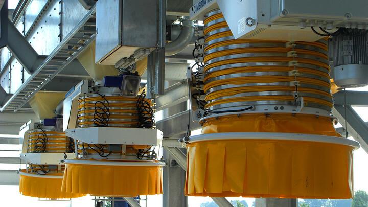 TBMA Moduflex beladingsbalg voor scheepsbelading, truckbelading en stockpiling