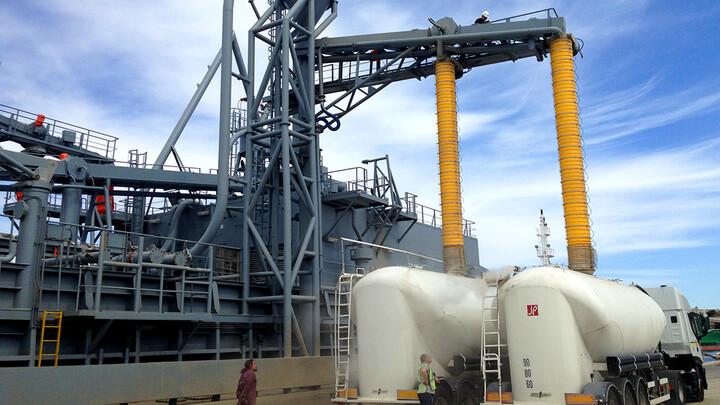 TBMA Moduflex beladingsbalgen bulk wagen truck container treinwagon