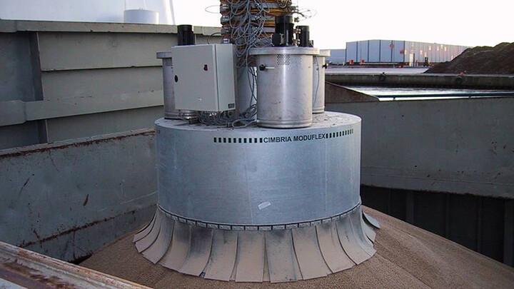 TBMA Moduflex loading chute ship loading