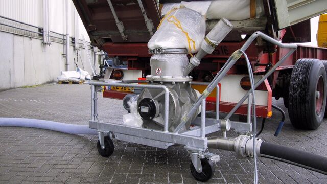 TBMA rotary valves for unloading lined containers