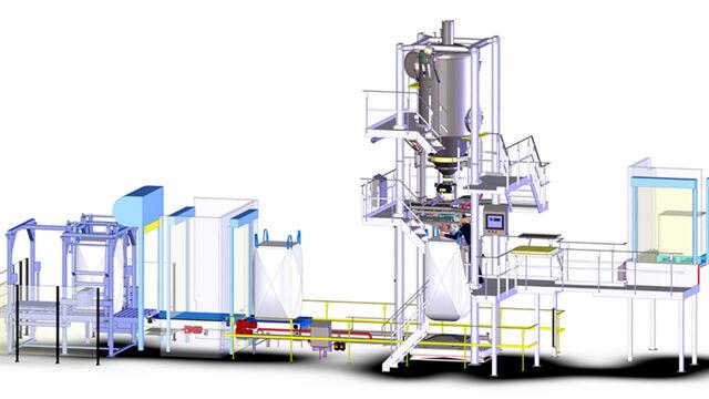 TBMA sanitaire big-bag vullijn voor NL melkpoeder producent