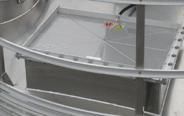 TBMA silo apparatuur breekplaat met vlamdover