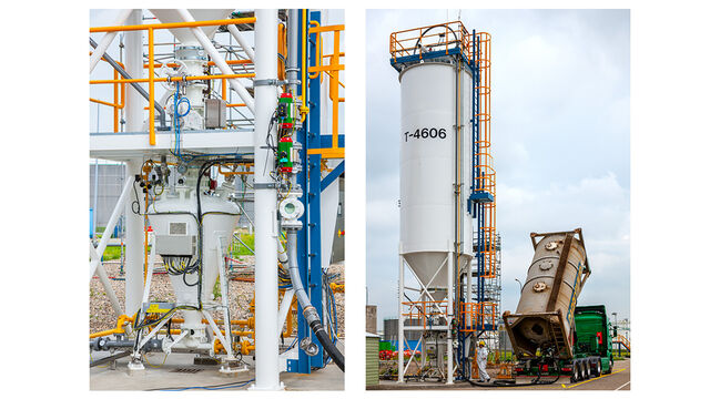 TBMA silo storage for chemicals plastics industry
