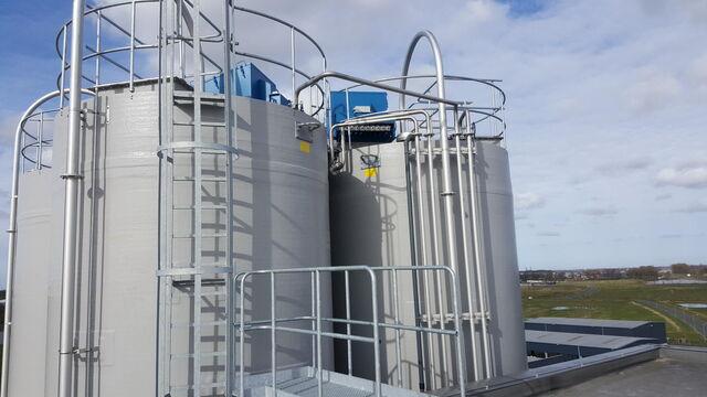 TBMA silo's en hoppers voor mineralen industrie