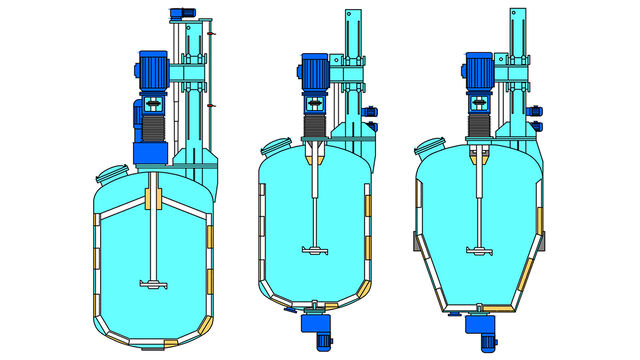 TBMA TBM turbo mixer for mixing and homogenising of powders into liquids